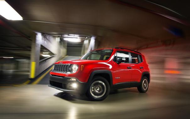 Фото обои джип, Sport, Jeep, 2015, Renegade, BR-spec, ренегат