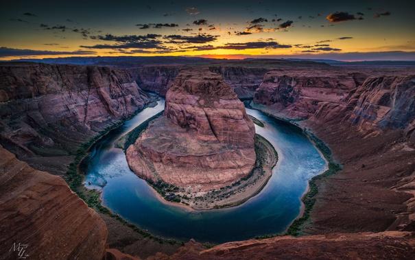 Фото обои природа, река, Колорадо, каньон, Аризона, США, Arizona