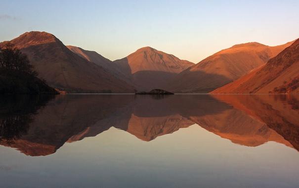 Фото обои горы, отражение, холмы, водоем, photo, photographer, Greg Stevenson