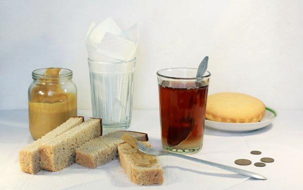 Фото обои еда, чай, хлеб