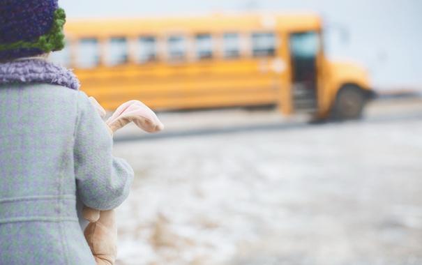 Фото обои настроение, автобус, ребёнок