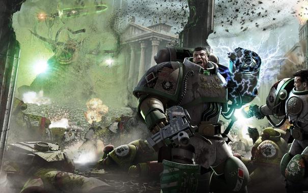 Фото обои битва, Emperor's Children, Neil Roberts, warhammer 40K, Death Guard, Horus Heresy Series, Flight of the ...