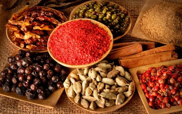 Фото обои spices, seasonings, assorted