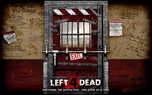 Фото обои wall, left 4 dead, door