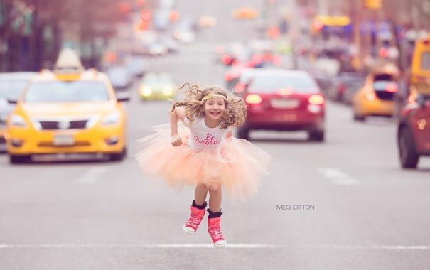 Фото обои настроение, улица, девочка