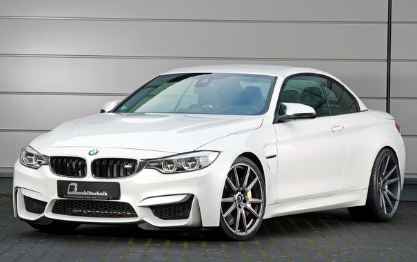 Фото обои белый, бмв, BMW, кабриолет, Cabrio, F83, B&B