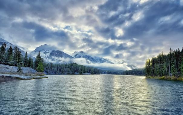 Фото обои Alberta, Canada, Johnson Lake