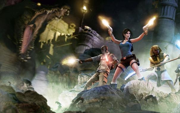 Фото обои обои, девушка, tomb raider, Lara Croft and the Temple of Osiris, египтянин, lara croft, art