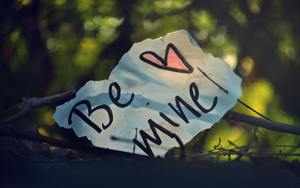 Фото обои текст, надпись, сердце, записка, сердечко