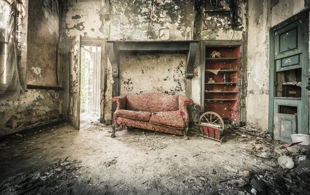 Фото обои комната, диван, фон