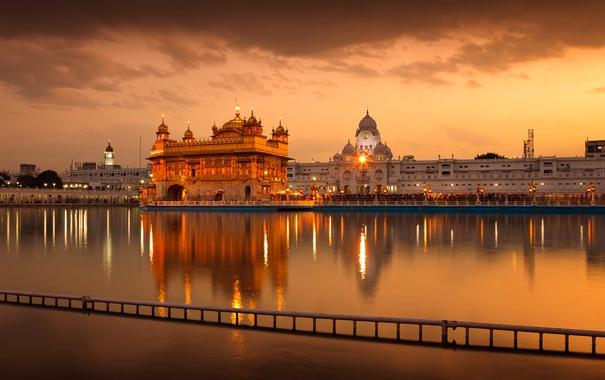 Фото обои Индия, Амритсар, Золотой храм, Хармандир-Сахиб, Пенджаб