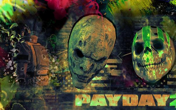 Фото обои маски, art, Mask, Payday 2, Payday, PAYDAY