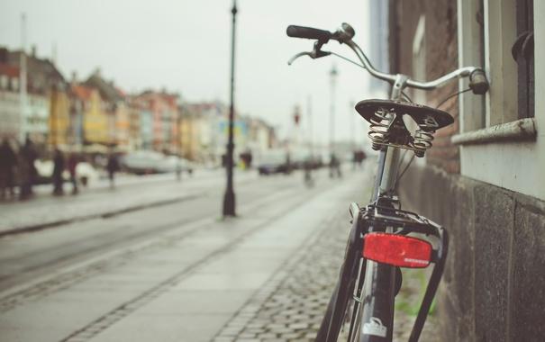 Фото обои велосипед, улица, боке, Copenhagen