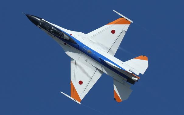 Фото обои истребитель, полёт, F-16, Fighting Falcon, «Файтинг Фалкон»