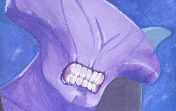 Фото обои рисунок, зубы, существо, Dota 2, Faceless Void, Darkterror, Catoffan