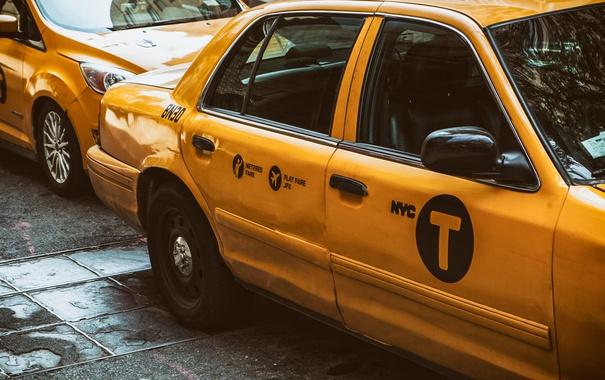 Фото обои такси, USA, желтое, New York, NYC, Taxi, CAR
