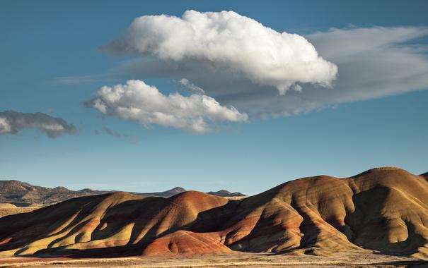 Фото обои облака, горы, небо, холмы