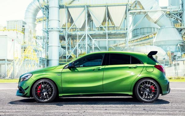 Фото обои зеленый, Mercedes-Benz, мерседес, AMG, амг, A-class, W176