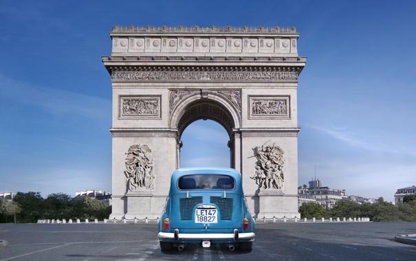 Фото обои Париж, памятник, Paris, France, Триумфальная арка
