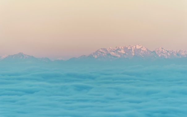 Фото обои природа, облака, горы