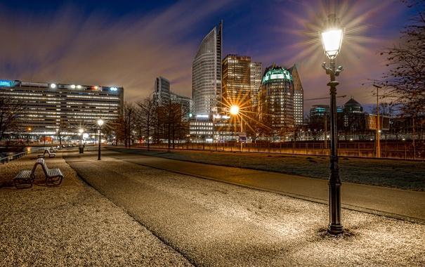 Фото обои Netherlands, Blue Hour, Hague