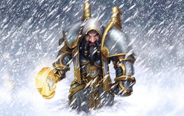 Фото обои молот, WoW, World of Warcraft, гном