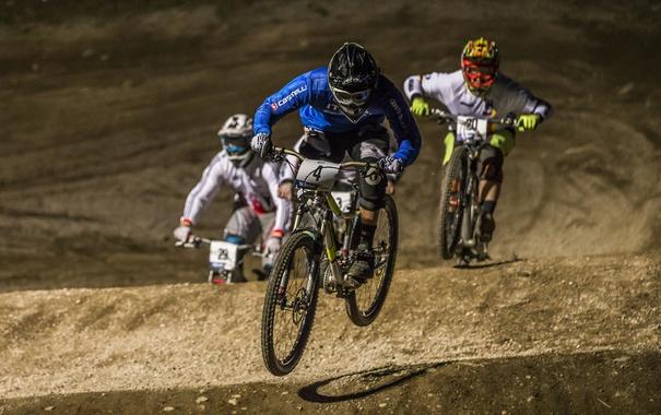 Фото обои велосипед, гонка, спорт