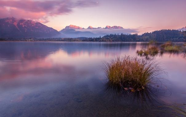 Фото обои sunset, lake, germany, barmsee