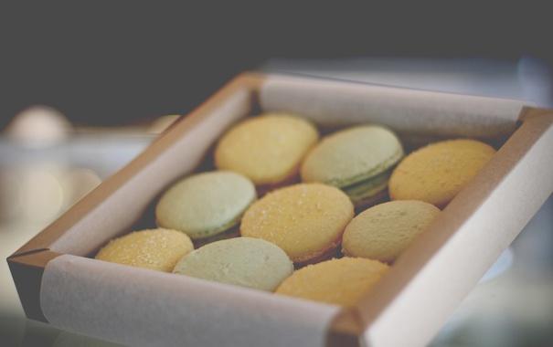 Фото обои коробка, печенье, сладкое