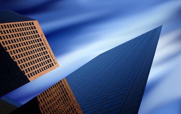 Фото обои небо, город, здания, Los Angeles