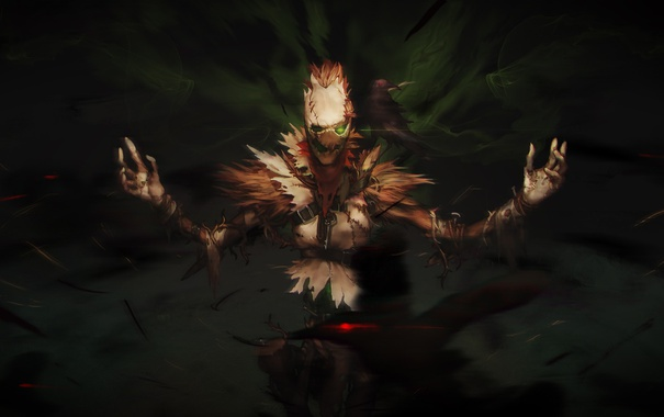 Фото обои crow, lol, League of Legends, Fiddlesticks, Harbinger of Doom