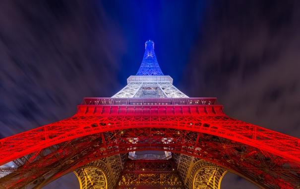Фото обои Париж, башня, город