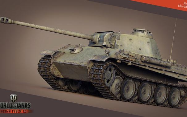Фото обои Германия, Пантера, танк, танки, Germany, рендер, WoT