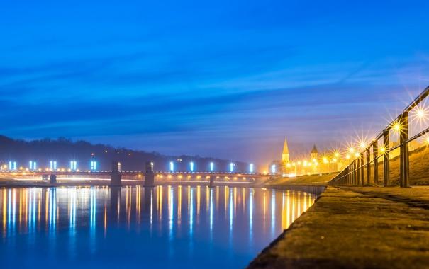 Фото обои Landscape, Night, Kaunas