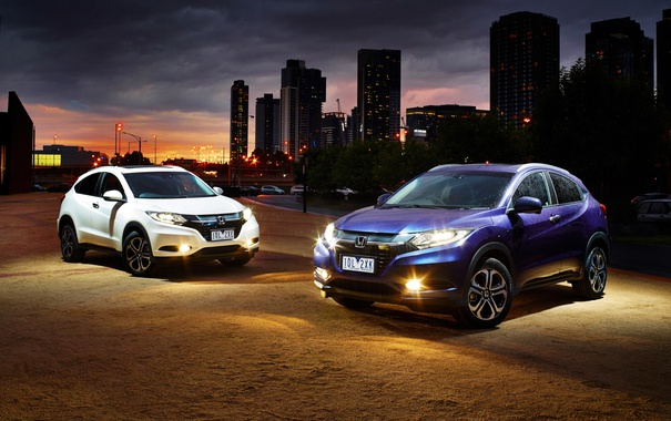 Фото обои Honda, хонда, AU-spec, 2015, HR-V