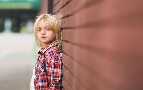 Фото обои взгляд, фон, портрет, девочка