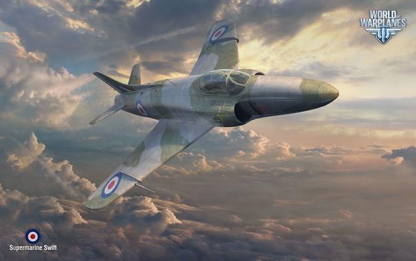 Фото обои Wargaming Net, World of Warplanes, Мир Самолетов, WoWP, Supermarine Swift