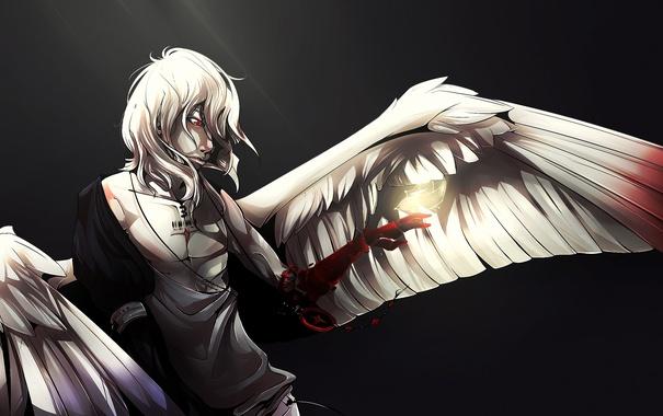 Фото обои кровь, рука, крылья, ангел