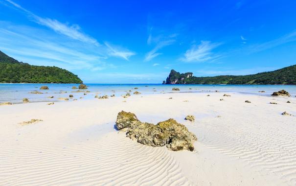 Фото обои песок, море, пляж, beach, sea, sand, камешки