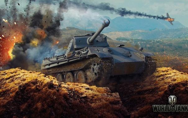 Фото обои Германия, танк, танки, Germany, WoT, Мир танков, Panther