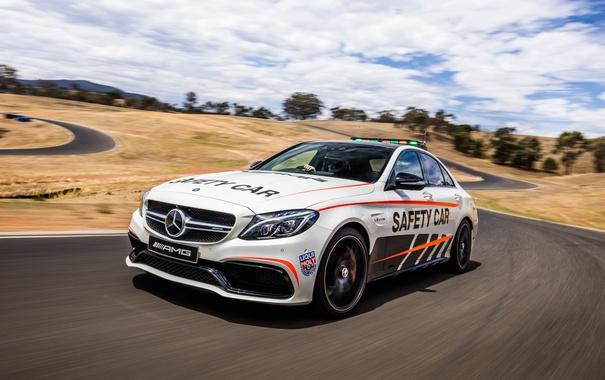 Фото обои Mercedes-Benz, W205, C-Class, мерседес, Safety Car, AMG, амг