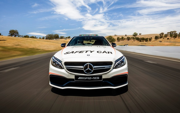Фото обои Mercedes-Benz, мерседес, AMG, амг, Safety Car, C-Class, W205
