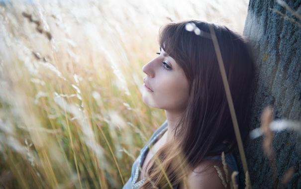 Фото обои лето, девушка, портрет