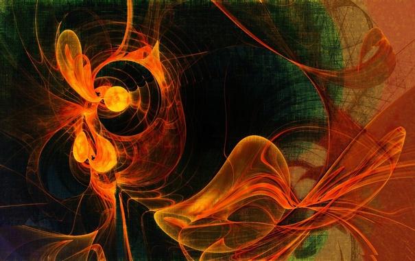 Фото обои свет, узор, дым, цвет, газ, фрактал