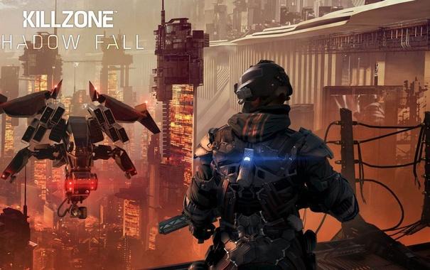 Фото обои future, gun, killzone, soldier, weapon, war, sony