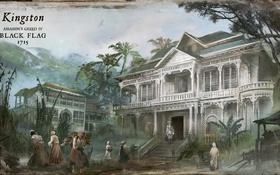 Картинка деревья, дом, здание, Черный Флаг, Assassin's Creed IV: Black Flag, Кредо Убийцы IV