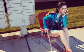 Обои chair, chick, mary elizabeth winstead, acress, model, cute, hot