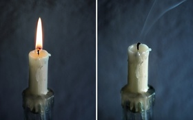 Обои candlestick, candle, fire, Whiff