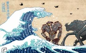 Обои kaiju, Jaeger, art, Pacific Rim