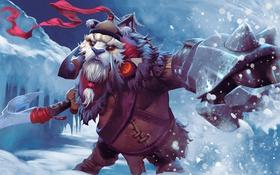 Обои снег, кулак, Dota 2, Tusk